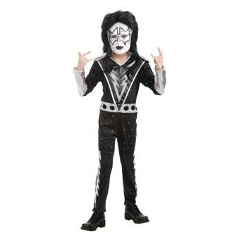 KISS Band - Spaceman Child Costume Size 4-6 Small -