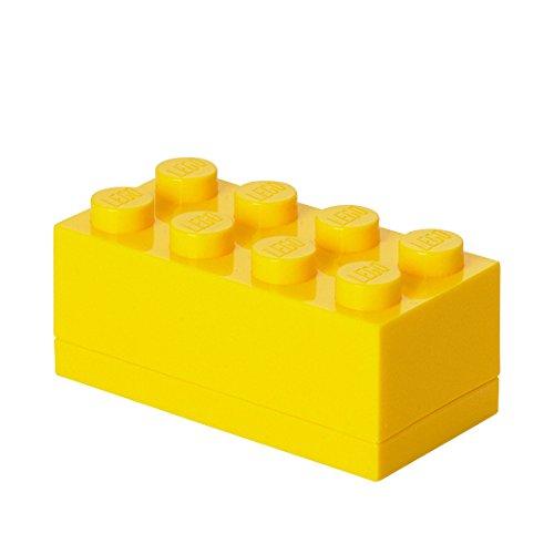 LEGO - Mini caja de almuerzo 8, color amarillo (Room Copenhagen A/S 40121732) Plast Team bebida brick comida