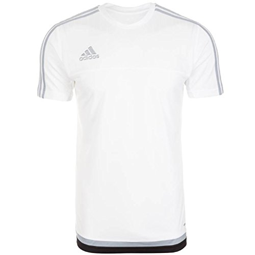 Adidas Tiro 15 Mens Training Jersey (White-Grey-Black) (Medium)