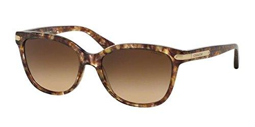 WOMEN COACH SUNGLASSES L109 HC8132 528713 CONFETTI LIGHT BROWN/GOLD/brown gradient - Coach Sunglasses Brown