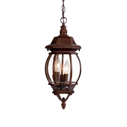 Acclaim 5160BW Chateau Collection 3-Light Outdoor Light Fixture Hanging Lantern, Burled Walnut (Chateau Outdoor Pendant)