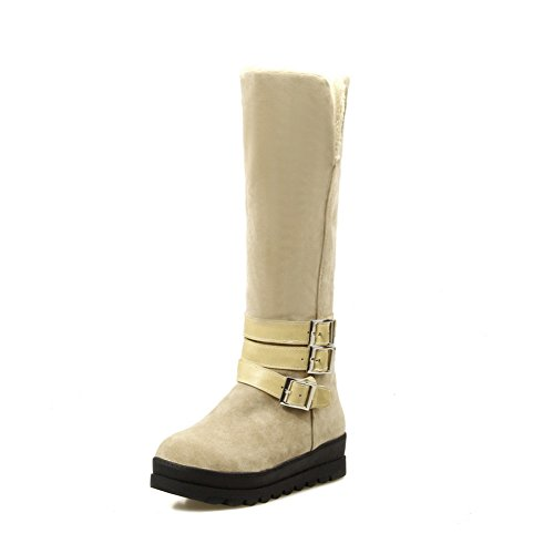 Solid On Suede Heighten Pull Womens Inside Beige Boots Imitated BalaMasa UEqtn