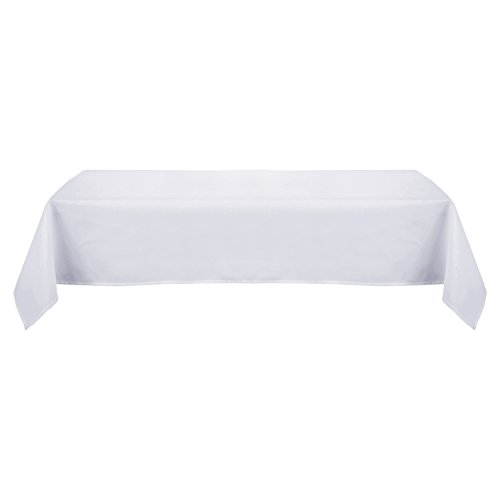 Deconovo Solid Oxford Decorative Rectangle/Oblong Water Resistant Tablecloth For Picnic, 60x102-inch, White
