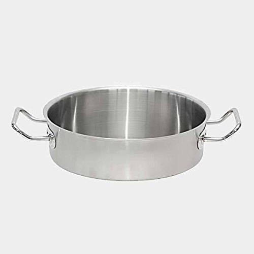 De Buyer Professional 40 cm Primary Cookware Stainless Steel Straight Saute Pan with Two Handles 3483.40