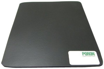 Poron Polyurethane Open-Cell Foam Sheet, Ultra Soft Firmness, Adhesive Backing, Black, 0.500