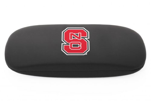 NCAA North Carolina State Wolfpack  Black Hard Case with NC State Logo -Hard Eyewear Case with Team Logo, Black, One Size (Wolf Sunglasses North)