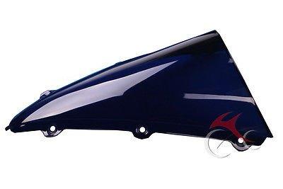 Nero Tengchang motocicletta Doppia protezione dello schermo del parabrezza bolla parabrezza per Yamaha YZF R1 2004 2005 2006