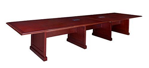 Inlaid Rich Wood Mahogany - Regency Prestige 192-Inch Modular Conference Table with Power Data Grommets, Mahogany