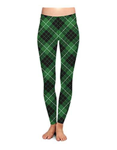 Two Left Feet Lovely St. Patrick's Day Lucky Leprechaun Shamrock Green Irish Leggings (Large/X-Large, Off Kilter) ()