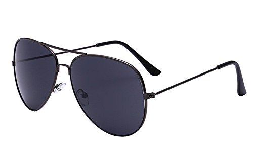 Grey Classic de Drop Hombre Gafas Mujer sol Lens Grey Aviator Mirror Unisex Frame HqnwrT1H
