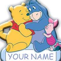 SandyLion Winnie The Pooh Door Name Plate -
