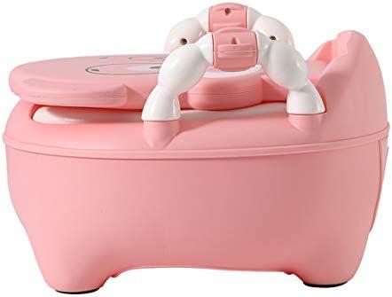 Glenmore Pot Enfant Toilettes Bebe WC avec Couvercle Pot Apprentissage Doux Rembourr/é Rose