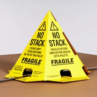 The Packaging Wholesalers 8 x 8 x 10'' Tri-Lingual No Stack Pallet Cones, Yellow (PALLET CONES YB), Case of 50 by The Packaging Wholesalers