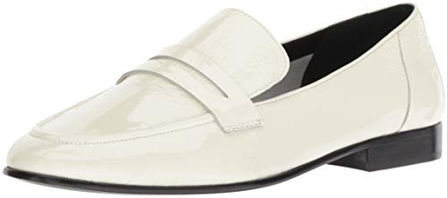 Kate Spade New York Women's Genevieve Loafer, Off White Crinkle Patent, 10 M US ()