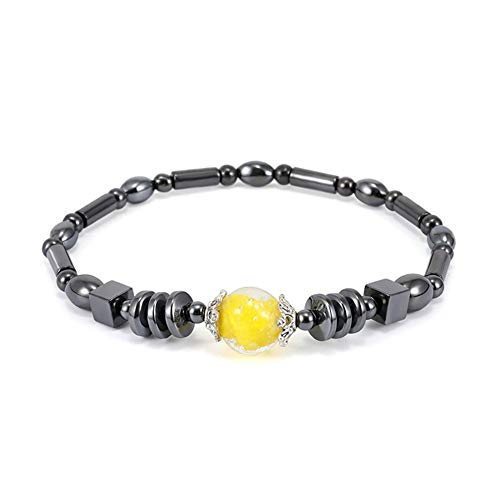 Magnetic Anklet Acrylic Beads Chain Anklet Square Magnetic Black Stone Anklet Unisex