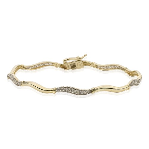 - KATARINA Diamond Tennis Bracelet in 14K Yellow Gold (1/4 cttw)