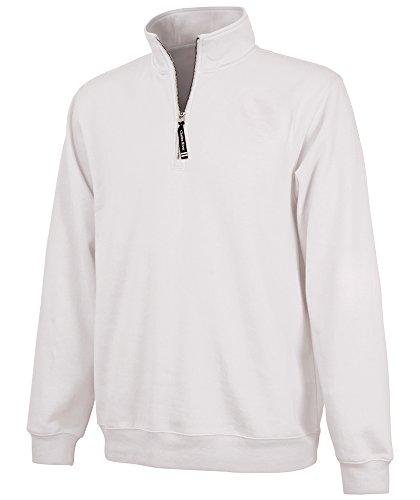 Charles River Apparel Unisex-Adult's Crosswind Quarter Zip Sweatshirt (Regular & Big-Tall Sizes), White, S