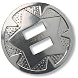 """Tandy Leather Star Conchos 1"""" (2.5 cm) Nickel Plated 10/pk 1320-01"""