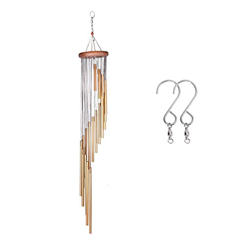 "Cheap DEWEL Wind Chimes Amazing Grace Wind Chime with 18 Aluminum Alloy Tubes 36"" Large Wind Chimes with Free 2 Pack Hooks Home Decoration for Indoor Outdoor Patio Lawn Garden Balcony Porch Backyard"