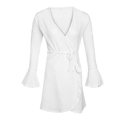 En À Femme Hiver Automne Casual Manches V Col De Robes Robe Longues Soirée Alian Sexy zUxqAPP