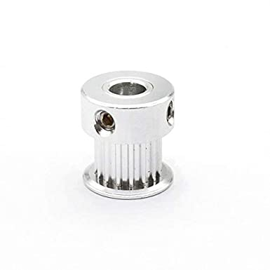 Bore Diameter: 4mm, Width: 6mm, Number of Pcs: 10pcs - Fevas GT2 12 Teeth Bore 4mm//5mm Timing Alumium Pulley Fit for GT2-6mm Timing Belt for 3D Printer