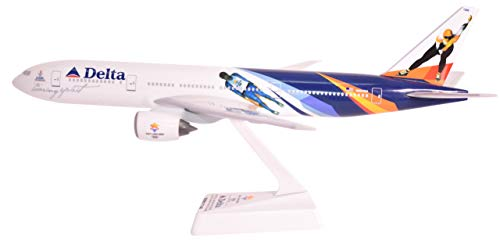 Delta 2002 Olympic 777-200 Airplane Miniature Model Plastic Snap-Fit 1:200 Part# ABO-77720H-400 ()