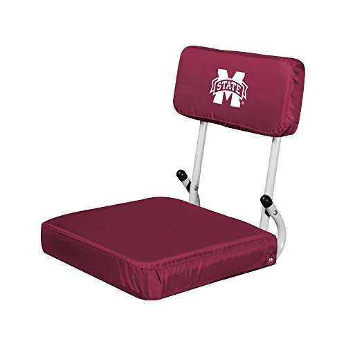 Logo Brands NCAA Mississippi State Bulldogs Hard Back Stadium Seat - Mississippi Seat Cushion
