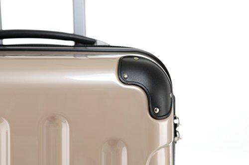 31J1bPFBDVL - Beibye - Juego de 3 maletas rígidas (tamaños XL, L y de mano), color lila