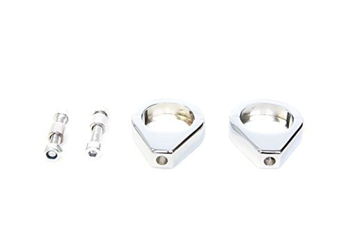 SMT MOTO- Motorcycle Turn Signal Clamps For Harley Softail Mount Bracket 49Mm Fork Tube CHROMED (Harley Fork)