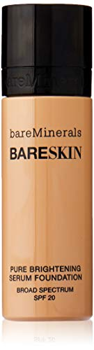 bareMinerals bareSkin Pure Brightening Serum Foundation SPF 20, Bare Natural 07, 1 Ounce (Best Foundation For 50 Year Old Skin)