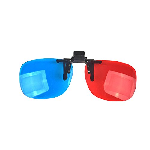 LINKALL 2pcs Red-blue / Cyan Anaglyph 3D Clip-on Glasses 3D movie game