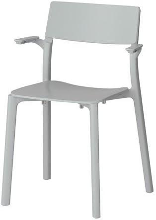 Ikea janinge Sedia con braccioli impilabile in grigio