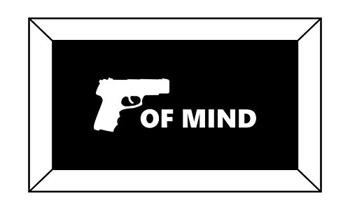 T1194 Piece of Mind Gun Decal Sticker - 3.00