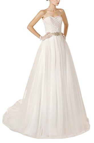 GEORGE BRIDE - Vestido de novia - trapecio - Sin mangas - Mujer Beige
