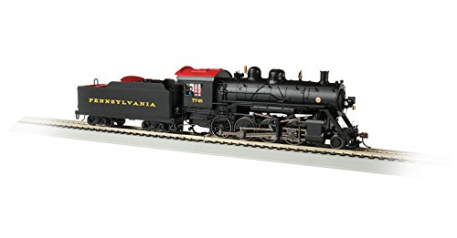 Bachmann Baldwin 2-8-0 DCC Sound Value Equipped Locomotive - Pennsylvania #7748 - HO Scale, Prototypical Black with Red Roof ()