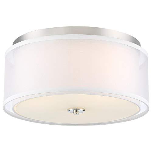 Minka Lavery Flush Mount Ceiling Light 3078-613 Studio 5 Low Profile Fixture, 3-Light 180 Watts, Polished ()