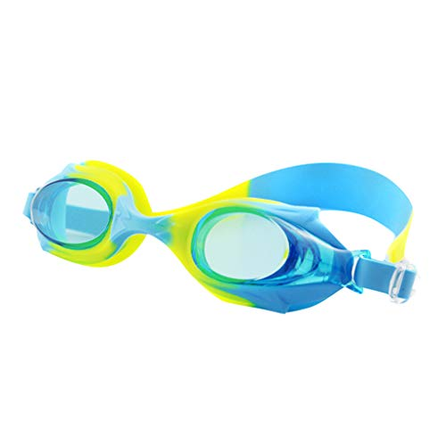 Haluoo Kids Swim Goggles, Swimming Glasses for Children and Early Teens, Anti-Fog, Waterproof, UV Protection Adjustable Swimming Goggles (Yellow)