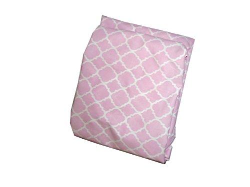Baby Doll Bedding Soho Fitted Crib Sheet, Pink Soho Pink Crib Sheet