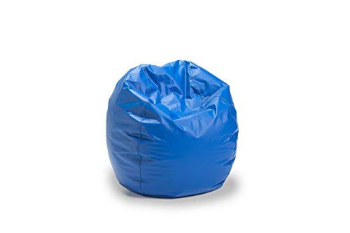 Bigger and Better! Adult Size Bean Bag Chair (Blue), 100% American Made