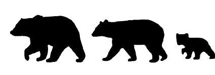 amazon com rmp black bear family of 3 bear family art bear