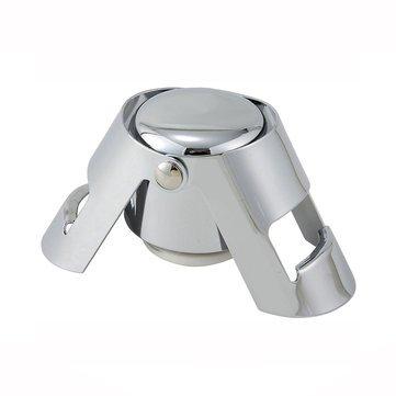 Drinkware & Tea Sets - Miuk Stainless Steel Vacuum Champagne/Red Wine Sealer Bottle Stopper Solid Seal Kept Fresh - Vacuum Wine Stoppers Stopper Air Sealer Set Houdini Bottle - 1PCs