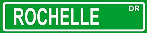 Rochelle Wall Plaque - Rochelle Green Aluminum Street Sign 4