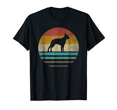 Boston Terrier Dog Shirt Retro Vintage 70s Silhouette Breed