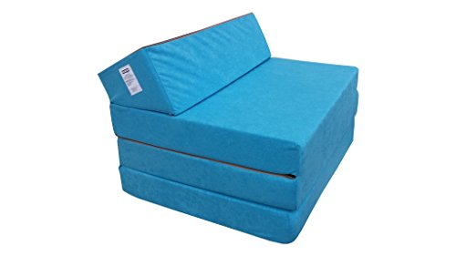Natalia Spzoo Colchón Plegable Cama de Invitados colchón de Espuma 200×70 cm FM (Azul)