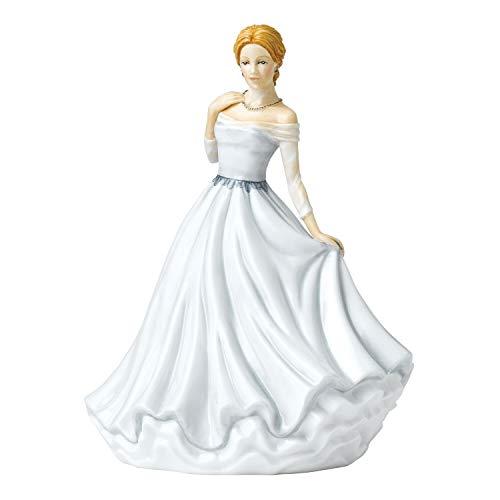 "Royal Doulton Sentiment Petites 6.9"" HN 5887 Perfect Joy Figurine, Gray"