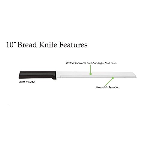 Rada Cutlery 10 Inch Stainless Steel Bread Knife with Black Stainless Steel Resin Handle – Made in USA by Rada Cutlery (Image #1)