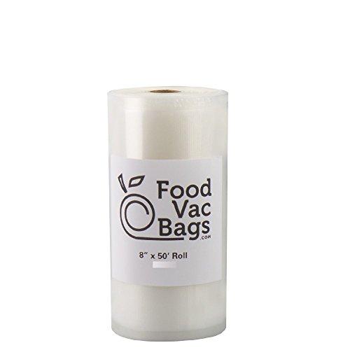 "1 - 8"" X 50' FoodVacBags 4 mil Vacuum Sealer Bag Roll Profes"