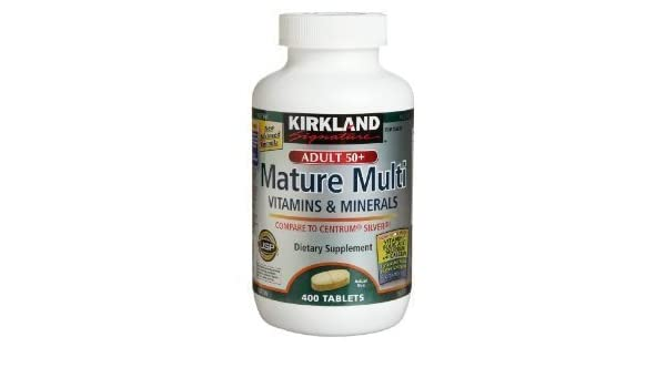 Kirkland Signature Adults 50+ Mature Multi, 400 Tablets (Pack of 3) by Kirkland Signature: Amazon.es: Salud y cuidado personal