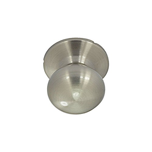 - Burton Harbor Round Mushroom Dummy Door Knob - Satin Nickel