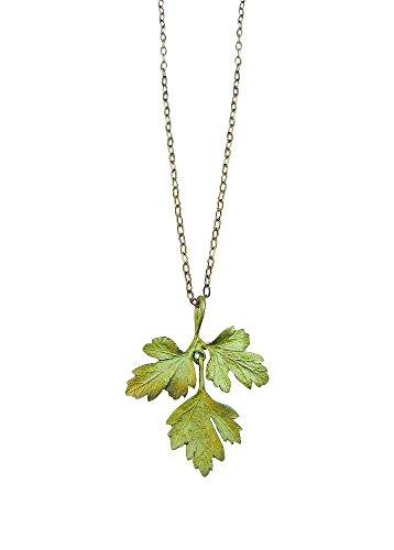 Michael Michaud for Silver Seasons Petite Herb Parsley Pendant Necklace 8954
